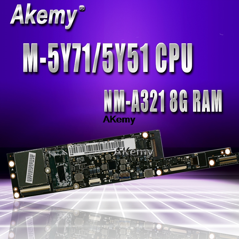 AIUU2 NM-A321 Laptop Motherboard For Lenovo YOGA3 Pro 13 Test Original Mainboard 8G-RAM M-5Y71/5Y51 CPU