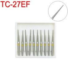 10Pcs Dental Diamond Burs Drill for Teeth Polishing High Speed Handpiece FG 1.6M TC-27EF