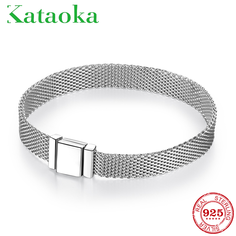 TOP Quality 925 Sterling Silver Clip Bead Bracelets For Women Fit Original Reflexions Bracelet Charms Femme Jewelry Fashion 2019