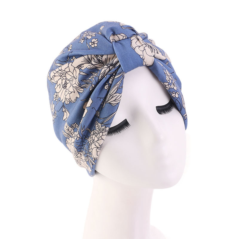 Muslim turban bonnet for women fashion print inner hijab caps arab headwrap turban femme musulman women hijabs head scarf