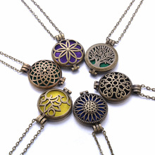 New Aroma Diffuser Necklace Open Antique Vintage Lockets Pendant Perfume Essential Oil Aromatherapy Locket Necklace with Pads new aroma diffuser necklace open antique vintage lockets pendant perfume essential oil aromatherapy locket necklace with pads