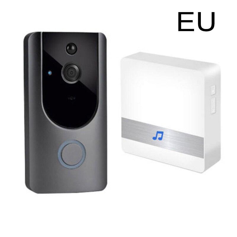 Smart Wifi Doorbell Wireless HD Video Camera Ring Motion Detection Black+Gray