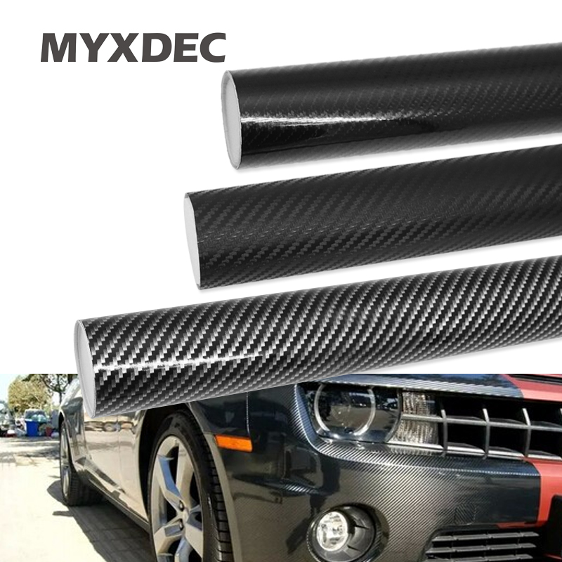 30cmx100cm 3D 6D Carbon Fiber Vinyl Car Wrap Sheet Roll Film Car Stickers Decals Motorcycle Car Styling Accessories Automobiles