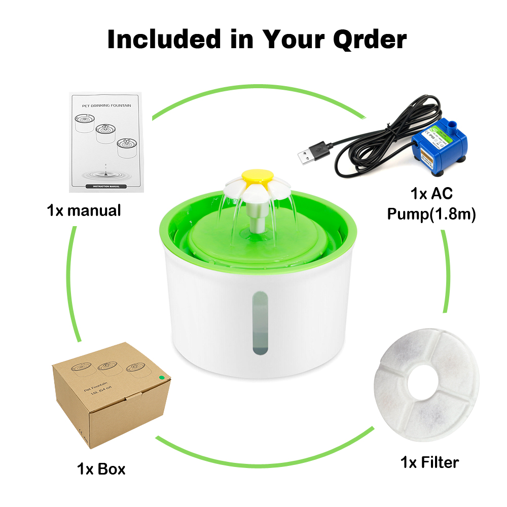1. 6 л Автоматический водный фонтан для кошек и собак, светодиодная электрическая миска для питья домашних животных, USB, бесшумный диспенсер д...