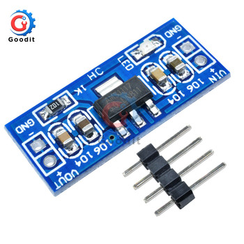 1PCS DC-DC Step Down Power Supply Module AMS1117 6-12V turn to 5V For Arduino Raspberry pi PCB Board Power Supply Converter image
