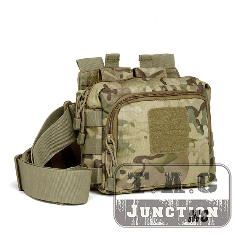 Tactical 2 Banger Messenger Bag Active Shooter Magazine Carrier Bag Conceal Carry 5.56 & Pistol Magazine 3-Point Crossbody Bag