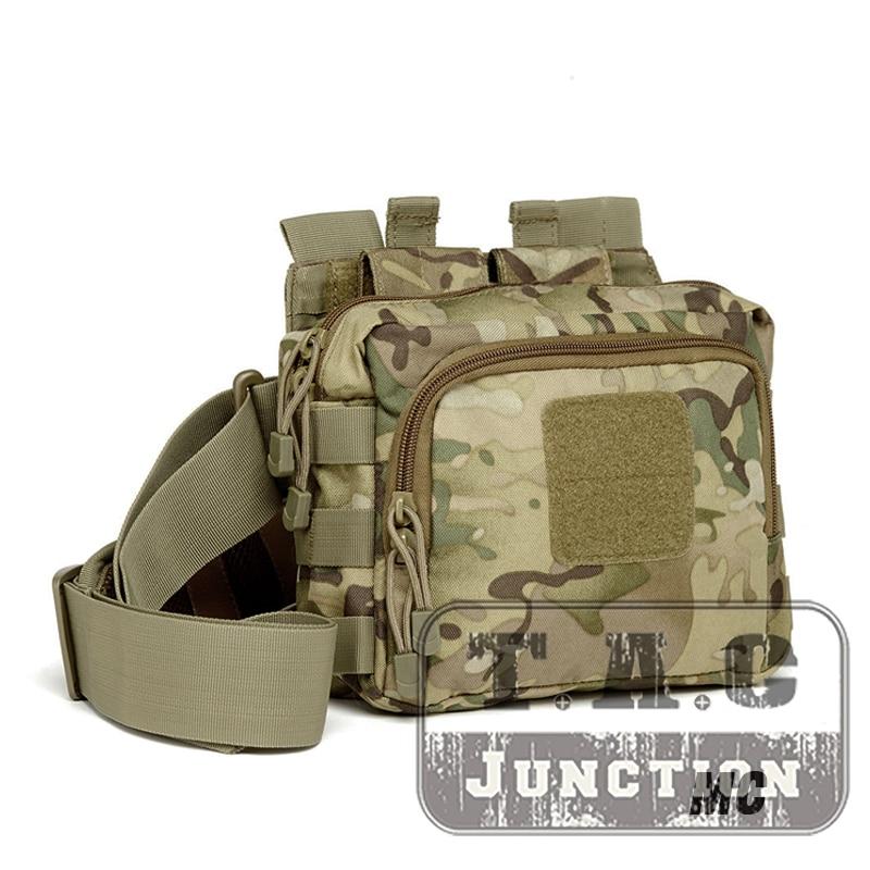 Tactical 2 Banger Messenger Bag Active Shooter Magazine Carrier Bag Conceal Carry 5.56 & Pistol Magazine 3-Point Crossbody Bag
