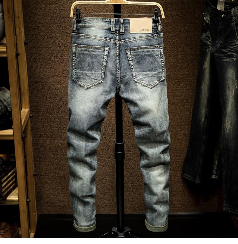 Slim Fit  Jeans Men Light Blue Stretch Spring and Autumn Denim Jeans Pants Male Casual Jenas Men's