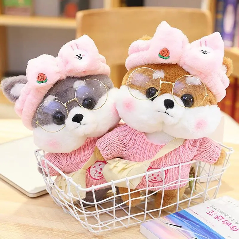 30CM Cartoon Lovely Shiba Inu Dog Cosplay Dress Up Plush Toys Stuffed Cute Animals Doll Soft Pillow for Kids Girls Birthday Gift