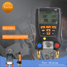 Digital Manifold Pressure Gauge Refrigeration Vacuum Pressure Manifold Tester Meter HVAC Temperature Tester Valve Tool Kit