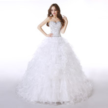 Abiti de 15 Organza Bianco Che Borda Quinceanera Dress Increspato Abito di Sfera vestido de debuttante Sweetheart suknie balowe(China)