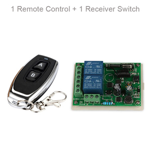 Image 3 - QIACHIP 433 MHz AC 110V 220V Wireless 2CH RF Transmitter Remote Control Switch + RF Relay Receiver For Light Garage Door Opener