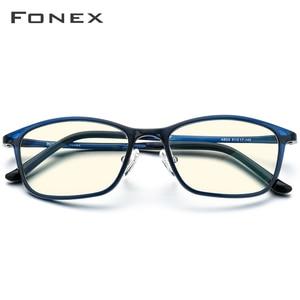 Image 2 - FONEX Ultem TR90 Anti Blau Licht Brille Männer Brille Schutz Brillen Blockieren Antiblue Gaming Computer Brillen Frauen AB03