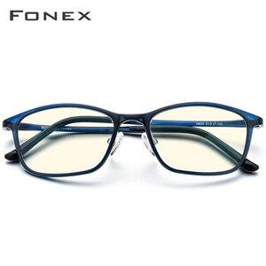 Image 2 - FONEX Ultem TR90 مكافحة نظارات الضوء الأزرق الرجال نظارات حماية نظارات حجب كمبيوتر ألعاب Antiblue النظارات النساء AB03