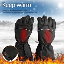 1 Pair Electric Heating Gloves with Batteries Heated Thermal Gloves for Men Women Full Fingers Winter Hand Warmer Ski Gloves