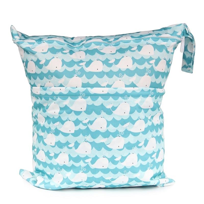 [CHOOEC] Big Size:40X45cm 2020 New XL Wet Bag Washable Reusable Cloth Diaper Nappies Bags Waterproof Swim Sport Travel Carry Bag