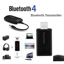 CARPRIE Bluetooth передатчик адаптер стерео USB для ТВ ПК компьютер автомобильные наушники динамик Портативный беспроводной приемник 3,5 мм