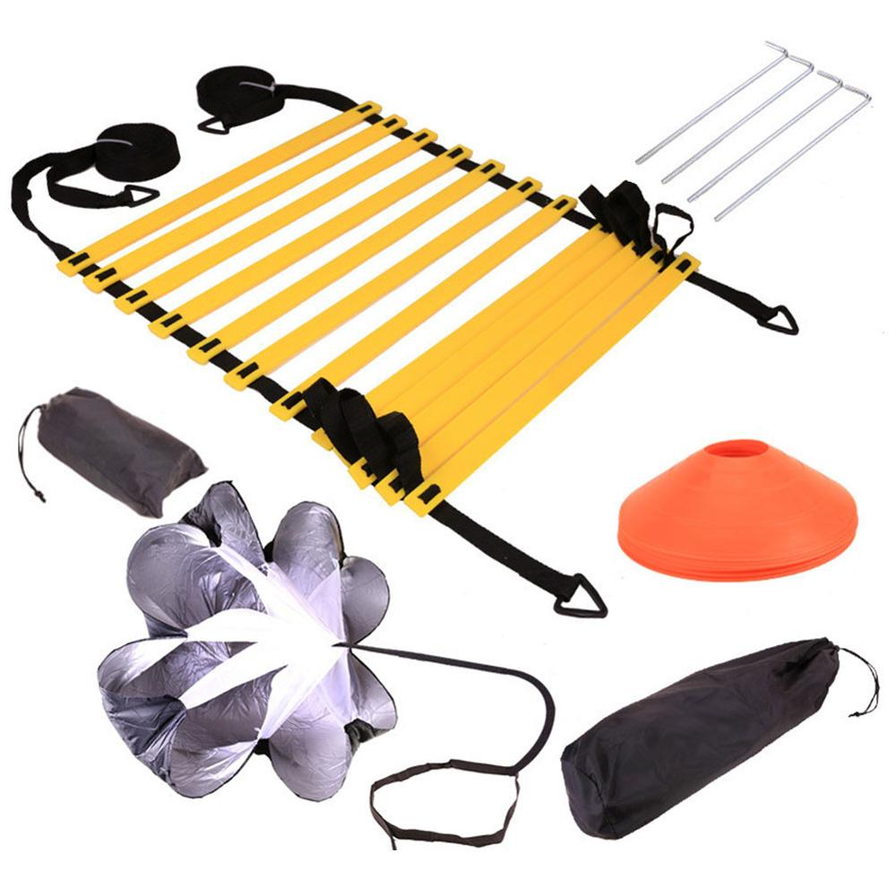 Speed Agility Training Kit Agility Ladder With Carrying Bag Fitness Equipment Body Building Agile Ladder Speed Cone Training Set
