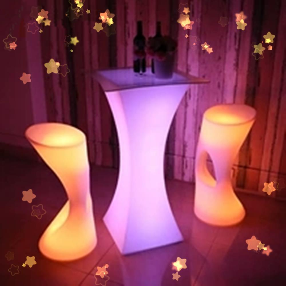 Новая светодиодная мебель для бара, цветной перезаряжаемый винный стол, водонепроницаемый светящийся коктейльный столик kTV, диско-бар