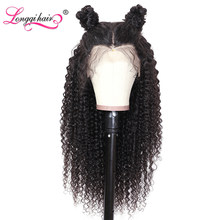 Longqi Hair Cambodian Curly Human Hair Wig Pre Plucked 13x4 13x6 Lace Front Wig Human Hair Remy Frontal Wig for Black Women(China)