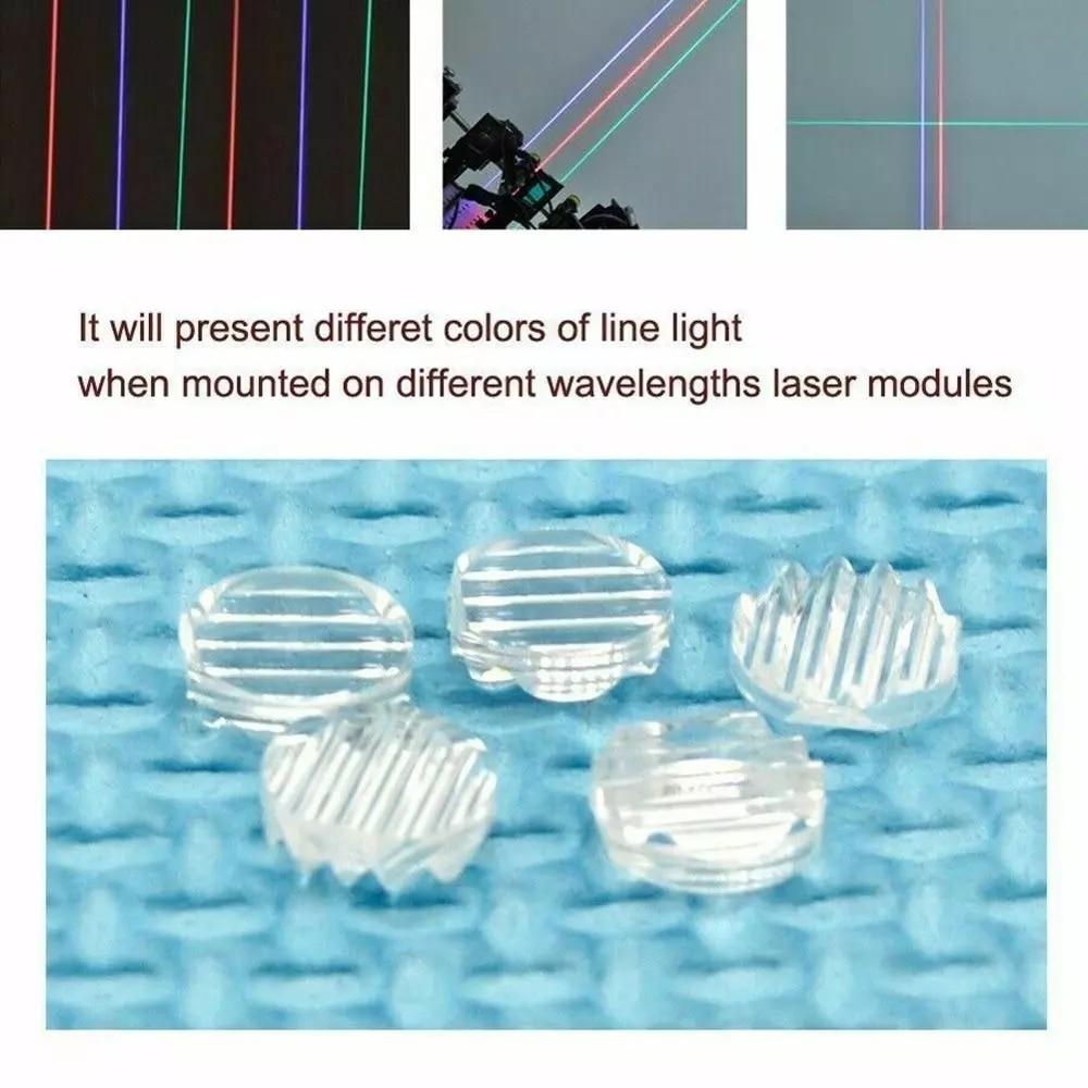10 шт. линейный лазерный объектив для 405нм 450нм 532нм 650нм 780нм 808нм 980нм RGI лазерный Линейный луч пластиковый 30/45/60/90/120 опционально