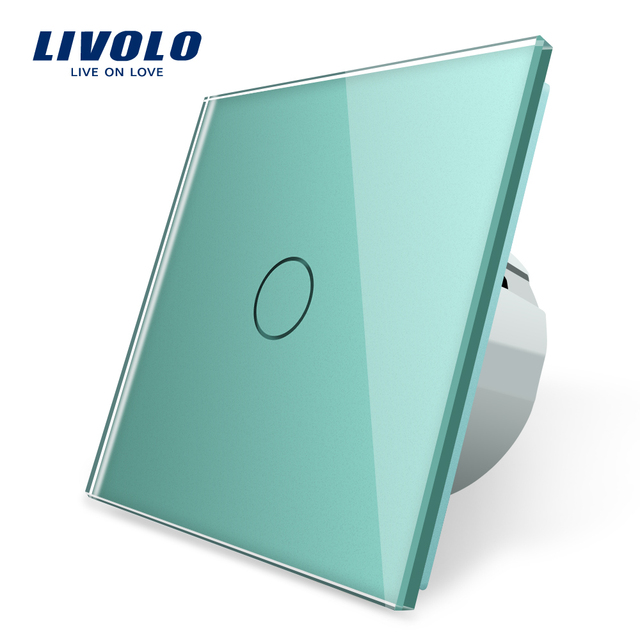 Livolo EU Standard Wall Light Touch Switch,Wall home switch,Crystal Glass Switch Panel, 220 250V,corss,dimmer,wireless,curtain