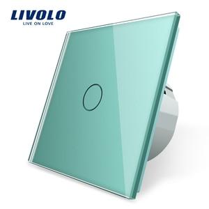 Image 1 - Livolo الاتحاد الأوروبي القياسية الجدار مفتاح الإضاءة التي تعمل باللمس ، الجدار الرئيسية التبديل ، الكريستال والزجاج لوحة التبديل ، 220 250 فولت ، كورس ، باهتة ، اللاسلكية ، الستار