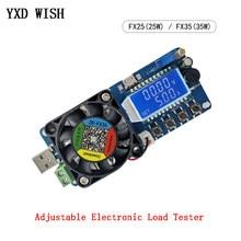 Probador de carga electrónica ajustable, voltímetro Digital LED USB, amperímetro, fuente de alimentación de capacidad de batería, 4A/5A, 25W/35W, Monitor Detector