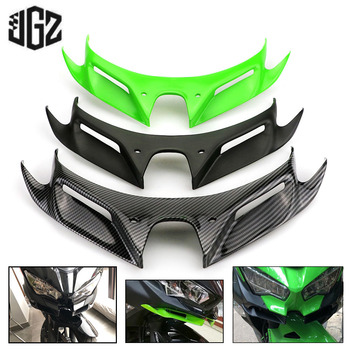 Motorcycle Carbon Front Fairing Pneumatic Winglets Tip Wing Protector Shell ABS Plastic Cover for Kawasaki Ninja 400 2018 2019 honglue for honda diozx af34 af35 motorcycle scooter accessories paint abs plastic front rear fairing kit