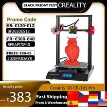CREALITY CR 10S Pro yükseltildi otomatik tesviye 3D yazıcı DIY kendinden montajlı kiti 300*300*400mm büyük baskı boyutu