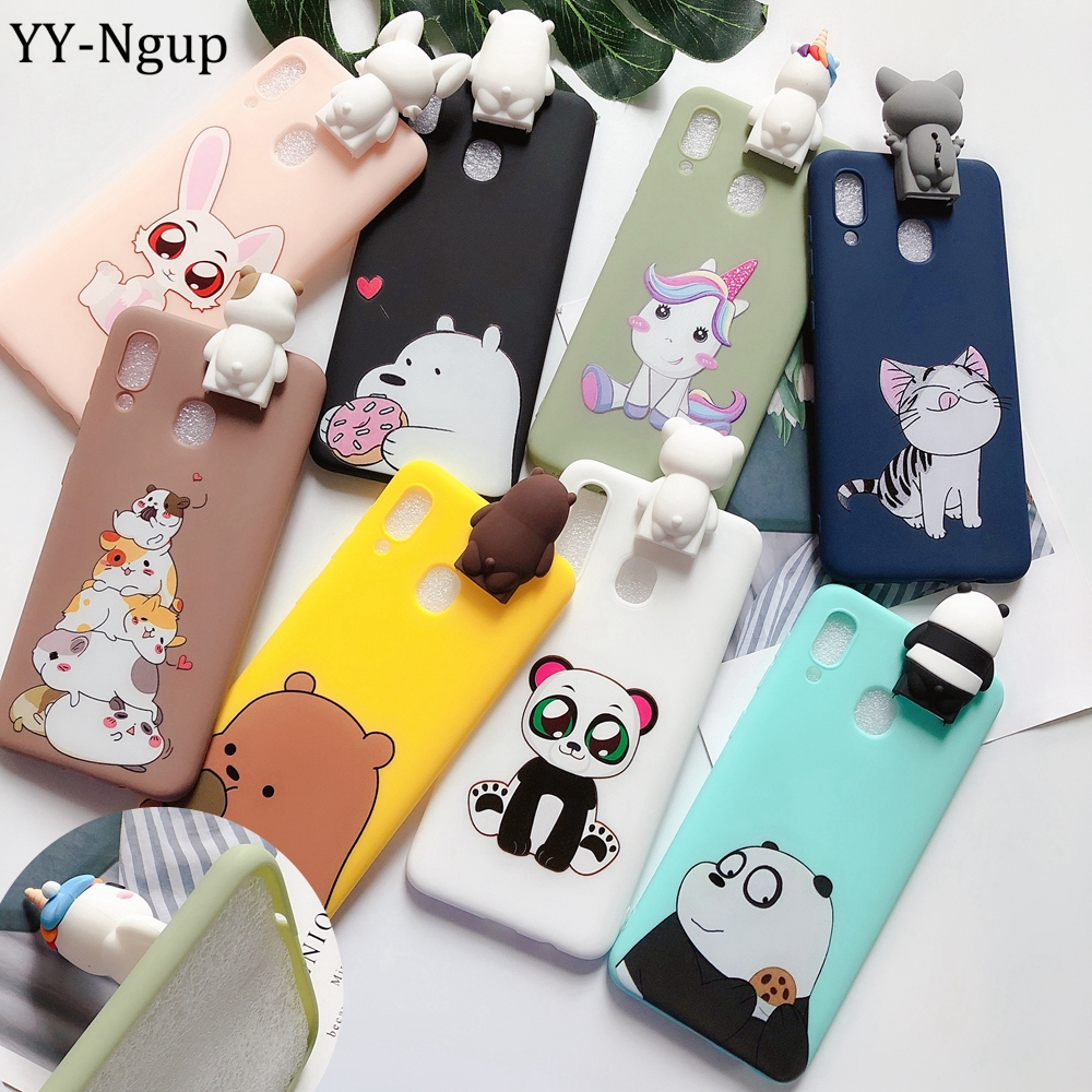 for etui <font><b>Samsung</b></font> A30 A40 A20E Case Kawaii 3D Unicorn Silicone Cover sfor <font><b>Samsung</b></font> Galaxy A10 A20 A50 <font><b>A70</b></font> Case Phone Holder <font><b>Hoesje</b></font> image