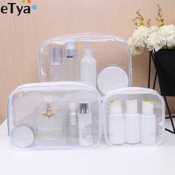 Women Waterproof Transparent PVC Cosmetic Bag Zipper Make Up Bag Case Travel Beauty Makeup Wash Organizer Toiletry Storage Kit