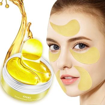 EFERO Eye Mask Collagen Crystal Eye Patches Anti Aging Remove Dark Circles Eye Bag Golden Eye Masks Moisturizing Eyes Care