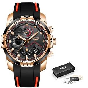 Image 5 - New Relogio Masculino 2019 LIGE Silicone Mens Watches Top Brand Luxury Man Military Quartz Clock Male Sport Waterproof Watch Men