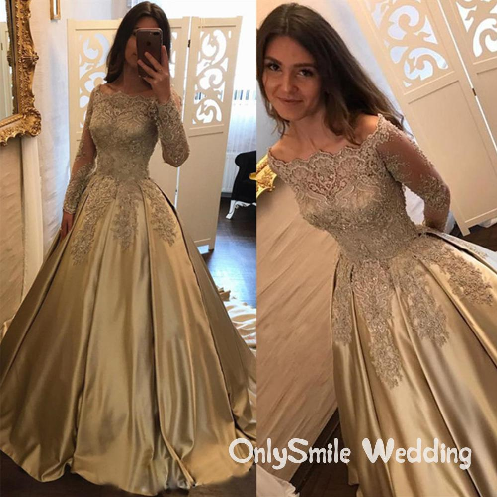 Elegant Prom Dresses Long Sleeves Vestidos De Fiesta Ball Gown Sexy Dress For Graduation Formal Evening Prom Dresses For Teens