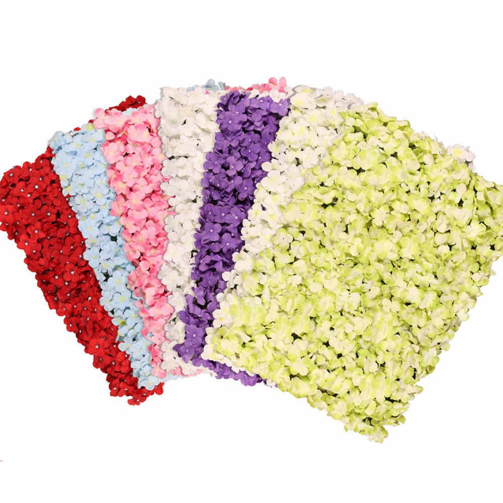 Diy Buatan Mawar Kepala Bunga Sutra Bunga Dekoratif Hotel Latar Belakang Dinding Dekorasi 25 Pcs DIY Peta LED Pernikahan Bunga Bouquet