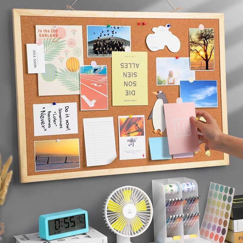 Student Flipchart Message Board Cork Board Message Wall Photo Wall Simple Family Background Note Board