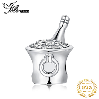 JewelryPalace Ice Bucket Beer 925 Sterling Silver Beads Charms Original For Bracelet original Jewelry