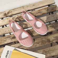 Crocse Women Sandals Summer Soft Flat Slip On Female Casual Jelly Shoes Girl Hollow Out Flats Beach
