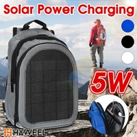 HAWEEL 5W USB Backpack Solar Panel Battery Power Bank Charger for Smartphone Camping Climbing Travel Hiking Backpack 2L Capacity