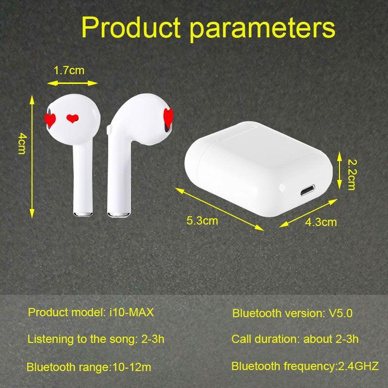 i10 Max TWS Bluetooth Earphone headphone i7s i7 i9s Wireless Earbud Headset For xiaomi huawei Samsung ios vs i30 i80 i10 i12 i20 in Phone Earphones Headphones from Consumer Electronics