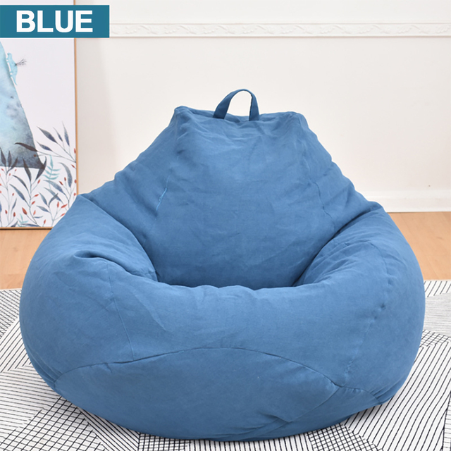 Lazy BeanBag Sofas Cover Chairs without Filler Linen Cloth Lounger Seat Bean Bag Puff asiento Couch Tatami Living Room Furniture 2