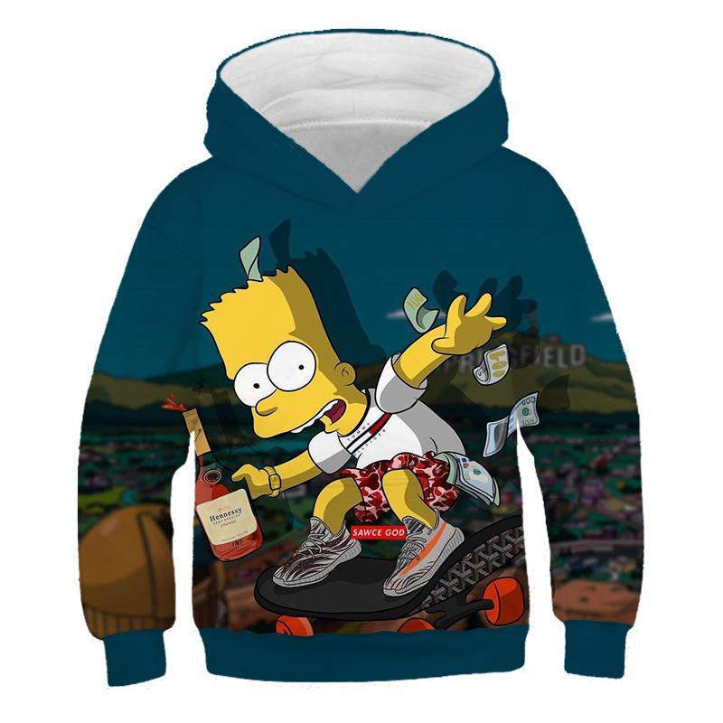 Halloween Cosplay 3D Sweatshirts Print Hoodies New Cartoon Boys/Girls Spring Hoodies Anime Simpsons Hoodie Funny Unisex Pullover