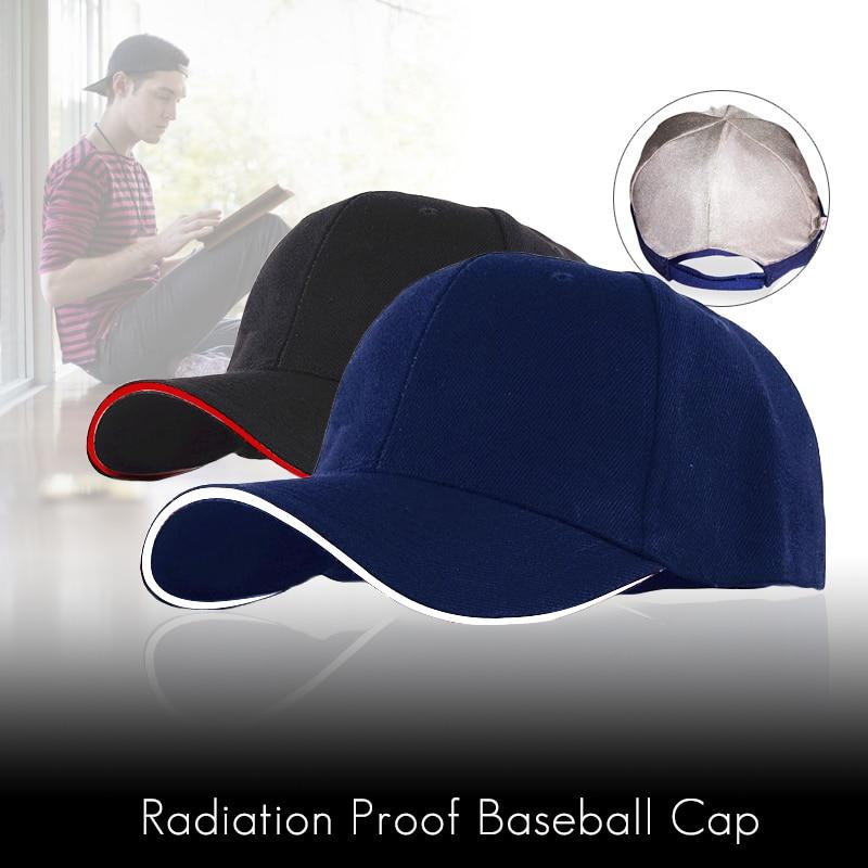 С защитой от радиации Кепки с защитой от ЭМП шляпа RF/микроволновая печь защиты Бейсбол Кепки унисекс Rfid Экранирование Шапки