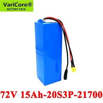 VariCore 72V 20S3P 15Ah 1500W 2000W elektrische fahrrad batterie 21700 74V elektrische roller lithium-batterie mit BMS Schutz