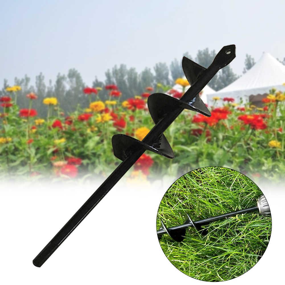 เหล็กเกลียวเครื่องมือเจาะ Bit Mini Garden Auger Multifunctional หลุมขุดดินพรวนดินปลูกบ้านรั้วเจาะ Yard