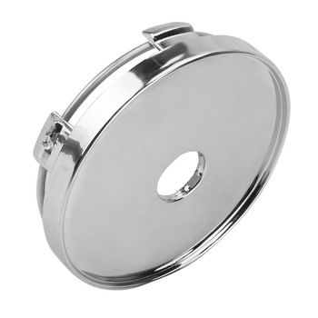 60mm Dust Cover Tire Accessories ABS Chrome No Logo Wheel Center Cap Car Wheel Cover Auto Hubcaps Cover Silver image
