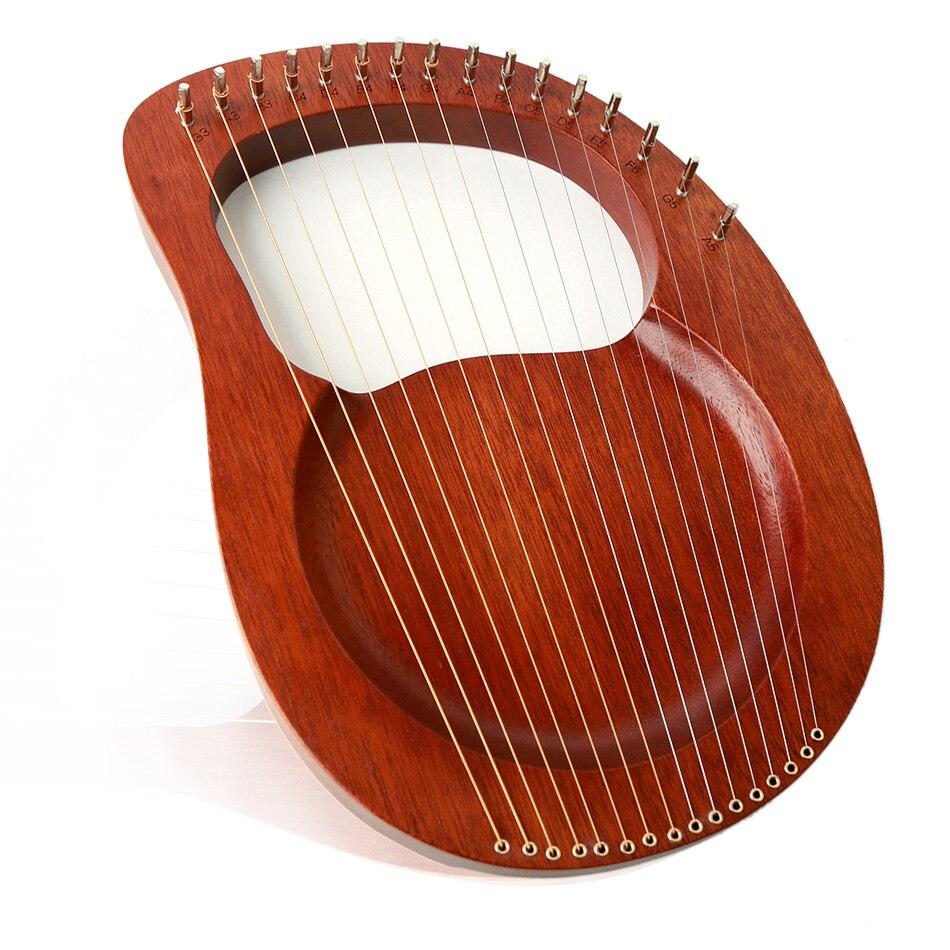 NEW 16/10-String Wooden Lyre Harp Metal Strings  Solid Wood String Instrument With Bag Metal Strings