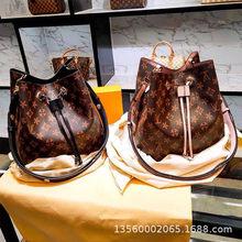Ladies Shoulder Bags Shoulder Messenger Bags Leather Bucket Bags Casual Drum Bags