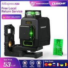 CLUBIONA MD08G niveau Laser vert 3D à diode Laser allemande avec 2x360 lignes de travail séparées et batterie au lithium de 5200mah